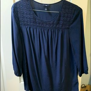 Navy blue Gap blouse